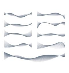 Waved Lines Design Elements Set vector image vector image