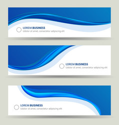 business banner wave set card brochure cover vector image