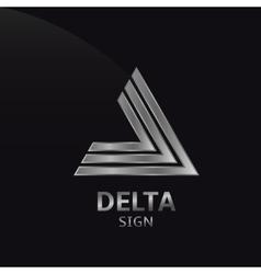 Delta sign vector image