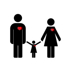 family icon flat design vector image vector image