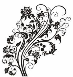 floral garnish vector image vector image