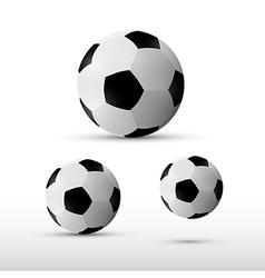 Football Balls Set Isolated on Grey Background vector image
