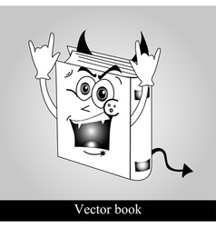 Funny book on grey background vector image