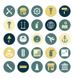 icons plain round industrial vector image