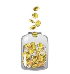 Money jar vector