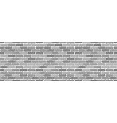 Seamless of gray brick vector image
