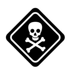 skull danger sign icon vector image