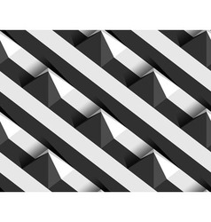 Striped 3D Pyramid Hills Seamless Pattern vector image vector image