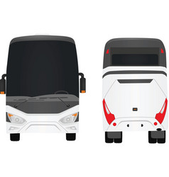 white bus vector image vector image