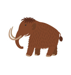 happy mammoth icon in cartoon style vector image