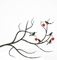 Rowan tree vector image