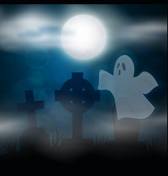 scary night halloween vector image vector image