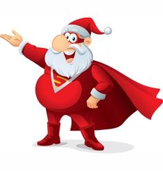 Super santa - cartoon vector