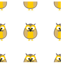 tile pattern with owls on white background vector image vector image