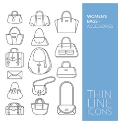 Womens bags and accessories vector image vector image