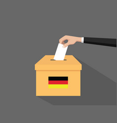 german election vote concept with vector image vector image