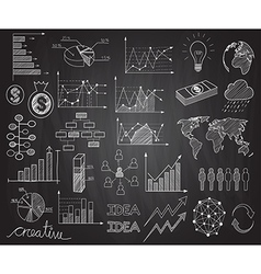 infographics doodles vector image vector image