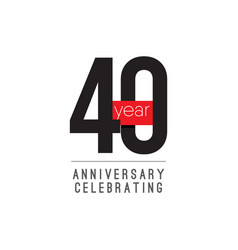 40 years anniversary celebrating template design vector