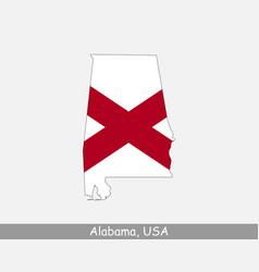 Alabama usa map flag vector