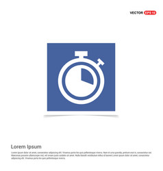 alarm clock icon - blue photo frame vector image