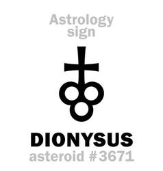 Astrology asteroid dionysus vector