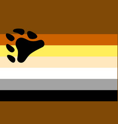 Bear brotherhood flag vector