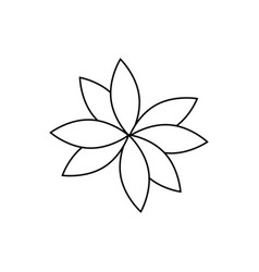 Beautiful flower icon vector