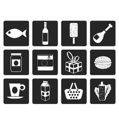 Black Shop food and drink icons 1 vector