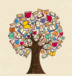 book tree for education concept vector image