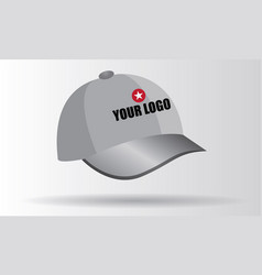 Cap from set of promotional vector