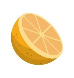 cartoon sliced orange fruit icon vector image