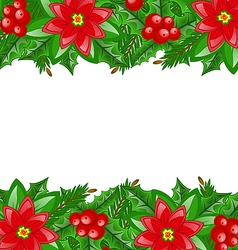 Christmas decoration with holly berry vector