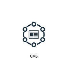 Cms icon simple element cms concept vector
