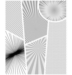Comic book monochrome design composition vector
