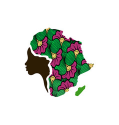 Concept of mother african woman map of africa vector