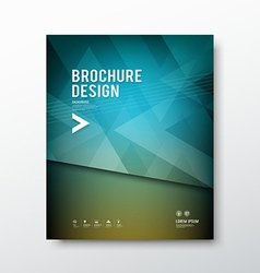 Cover brochure abstract triangle design blue backg vector