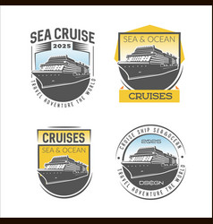 Cruise logo design template vector