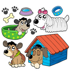 cute dogs collection 2 vector image
