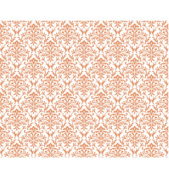 damask vintage seamless patterns vector image