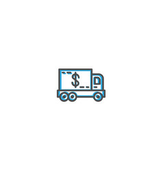 delivery truck icon design shopping icon design vector image
