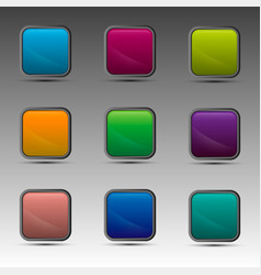 Different colorful squares vector