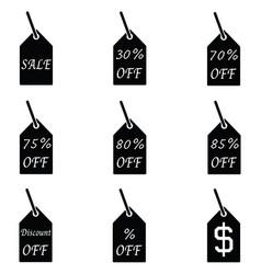 discount icon set vector image
