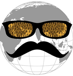 Dollar face globe vector image