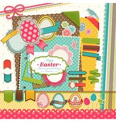 Easter scrapbook vector