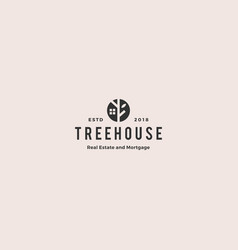 Eco house home treehouse mortgage real estate vector