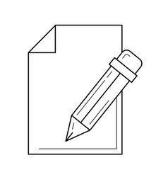 Edit post line icon vector