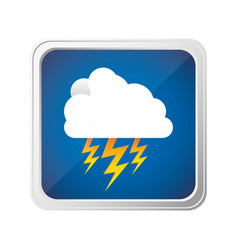 emblem cloud ray icon vector image