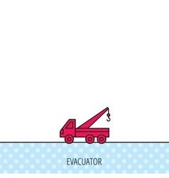 Evacuator icon Evacuate parking transport sign vector image