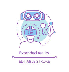 Extended reality concept icon vector