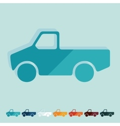 Flat design car pickup vector